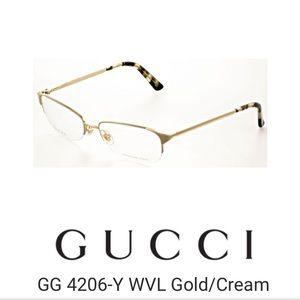 NEW Gucci eyeglass frames eyeglasses gold tortoise